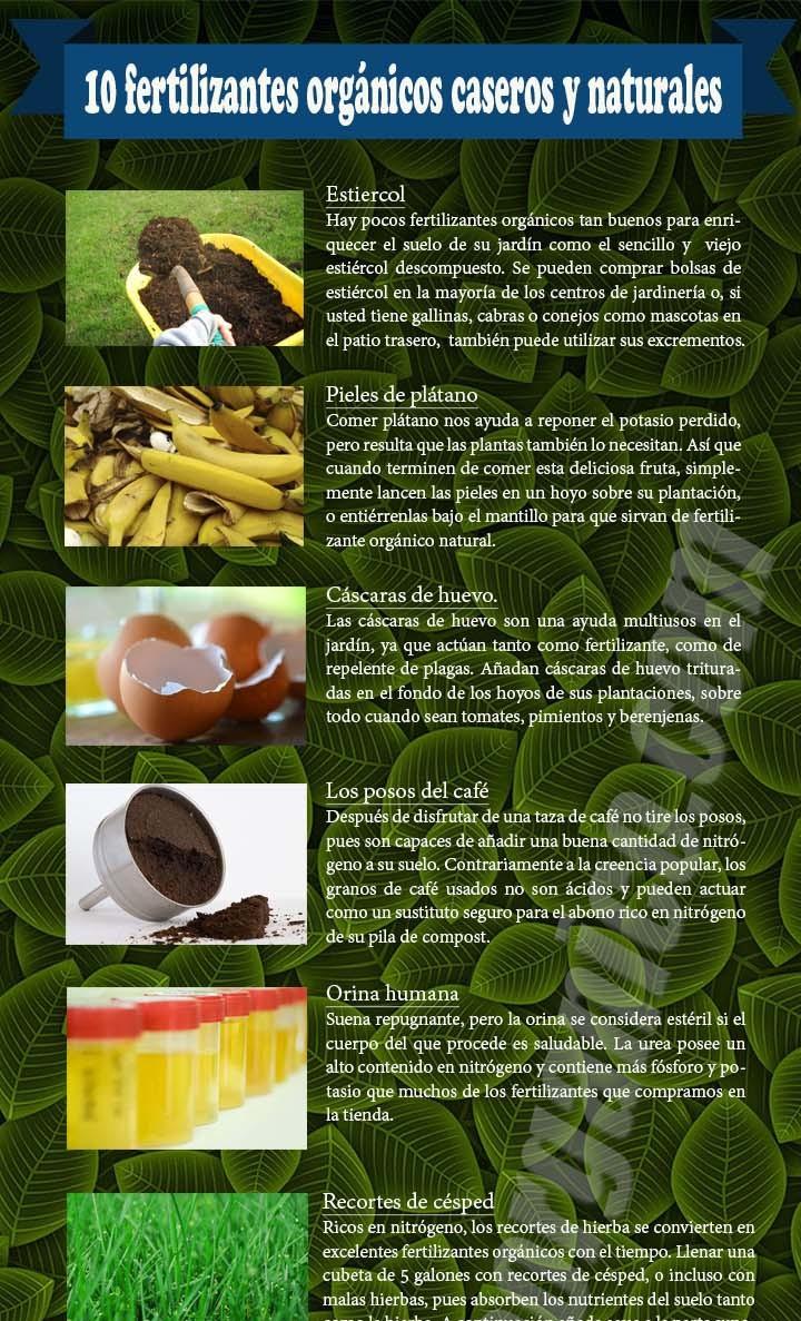 10 fertilizantes org nicos caseros y naturales for Que es un vivero de plantas