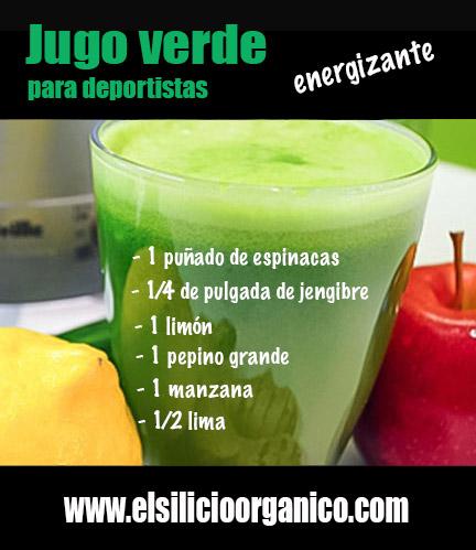 jugo verde energizante